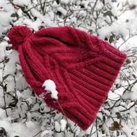 时尚温暖棒针毛线帽子图解