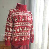 羊驼乔恩 女士棒针温暖提花毛衣