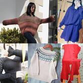 202008期周熱門編織作品:2020春款成人兒童棒針手編毛衣15款