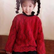 三天搞定随性派毛线球款改版儿童棒针镂空套头毛衣