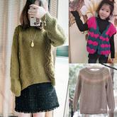 202009期周熱門編織作品:10款春款兒童成人棒針手編毛衣