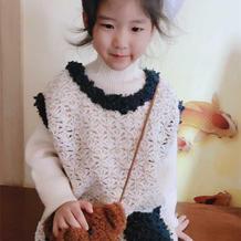 Coco小姐 小香风儿童钩针背心裙