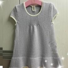 紫藤 萌芽儿童棒针背心裙