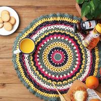 """毯子?桌垫?不,这个钩花垫有个像你一样想出去的""""心"""""""
