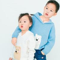 小熊连帽卫衣 钩针儿童毛衣编织视频教程