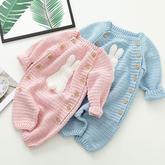 小兔子爬服 钩针婴儿连衣体编织视频
