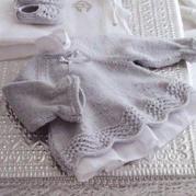 仿歐美翻譯款萌芽嬰兒棒針裙式小毛衣