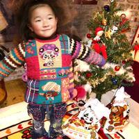 有趣有意义大牌风儿童拼花毛衣 袜套文件袋也可以做创作灵感