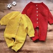 宝宝麻花爬服 从领口往下织宝宝棒针连体衣编织视频教�y程