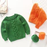 從上往下織寶寶棒針圓領毛衣 零基礎織毛衣視頻教程