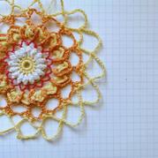 用途多多簡易版鉤針曼陀羅花朵圖文教程