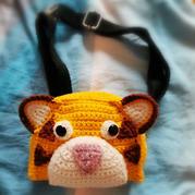 萌可愛寶寶鉤針小老虎腰包