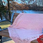 毛线编织郁金香图案棒针毯子