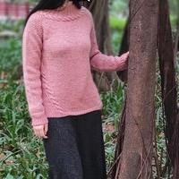 青翎 欧美图解翻译款云纹女士棒针插肩毛衣