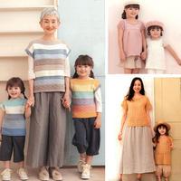 春夏亲子家庭款手工编织服饰图案图解