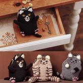 非常有个性的酷猫咪口金包编织图解