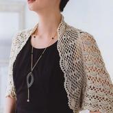 画扇连袖披肩(2-2)女士钩针春夏披肩式外搭小开衫编织视频