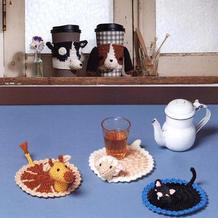 生肖动物主题钩针杯套杯垫图案图解
