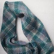 自動提花線鉤針經典英倫格圍巾