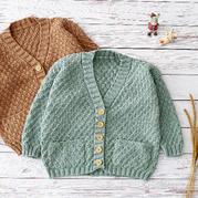 歡樂頌小開衫(2-1)棒針兒童毛衣外套編織視頻教程