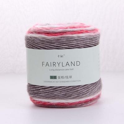 渐变蛋糕线球 长段染帽子线围巾线手工编织棒针钩针毛线