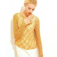 简约大牌女士棒针菱形镂空花套衫