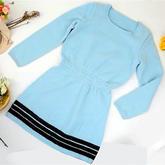 灵叶毛衣裙(4-4)女士棒针连衣裙编织视频教程