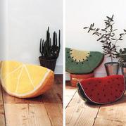 来一片水果!创意毛线钩针水果抱枕