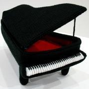 創意毛線玩具擺件 立體編織鉤針鋼琴編織圖解