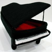 创意毛线玩具摆件 立体编织钩针钢琴编织图解