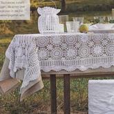 手工编织浪漫田如果我想园风钩针拼花蕾丝桌布