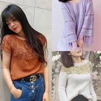 202019期周熱門編織作品:春夏女士兒童鉤織手編服飾16款