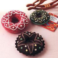 抱在怀里的甜蜜 创意毛线钩针甜甜圈抱枕