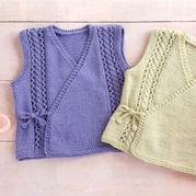 适合新生宝宝的系带叠襟和尚服马甲背心