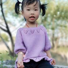 春风如沐 从领口往下织宝宝棒针中长款套头毛衣