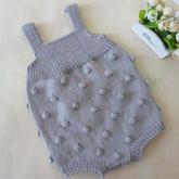 泡泡球连体衣裤(2-1)婴幼儿棒针背带爬服编织视频