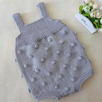 泡泡球连体衣裤(2-2)婴幼儿棒针背带爬服编织视频