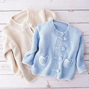 愛心小外套 中式風格兒童棒針開衫毛衣編織視頻教程