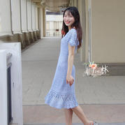 PRINCESS 云帛從上往下鉤女士鉤針飛袖修身連衣裙(第十屆編織大賽作品)