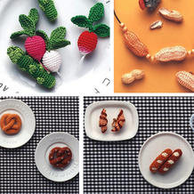 丝线搅动味蕾 超逼真的细线微钩蔬菜与甜品