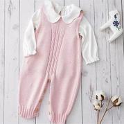 櫻落麻花爬服 嬰幼兒棒針連體衣背帶褲編織視頻