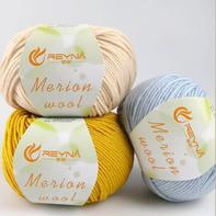蕾娜REYNA Merino wool 中粗美丽诺羊毛棒针手编线毛衣线