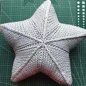 星星织我心 棒针星形抱枕织法教程