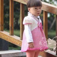 思密达 丝羊毛棒针宝宝韩式裙套衫