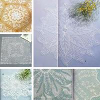 5款不同形状与难易程度的棒针蕾丝装饰