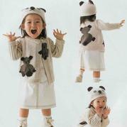 小熊图案宝宝棒针开衫与帽子编织图解