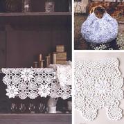 非常漂亮的钩针蕾丝花片 钩毯子包包或做装饰花边都好看