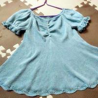 沁凉 天丝线编织儿童棒针短袖公主裙