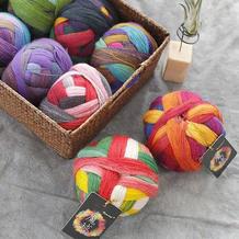 Rosecolor魔球 长段染毛线手编细羊毛蕾丝披肩线