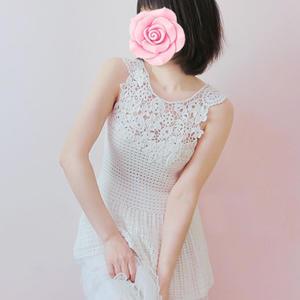 樱纯 女士钩针拼贴花朵裙式背心(第十届编织大赛作品)